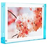 Color Edge Magnet Frame by Canetti-Pastel Aqua 5x7 inch