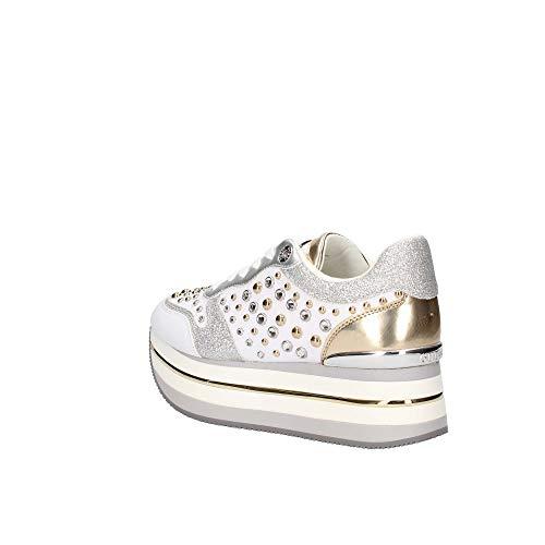 Blanco Bianco Plataforma Fl5hamelea12 Color Con Zapatos Mujer Guess Zapatillas Tx8qZWp