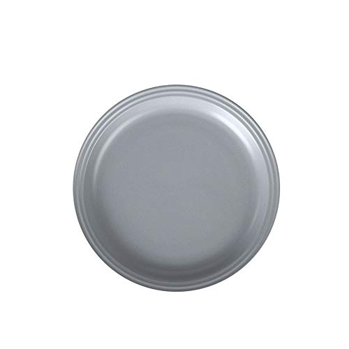 (Nordic ceramic plate personality Western deep dish commercial household steak dish European creative dinner plate light gray 25.7x3cm)