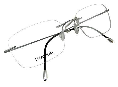 819e008fc9 Circleperson Rimless Titanium Eyeglass Frames RX-able Men Hingeless Light  Weight 55-18-140 (Lens Width 55 mm