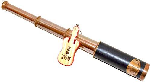 "Handicrafts Telescope Brass Antique Nautical Spyglass Pirate Vintage Maritime Handheld 15.5"" Royal Navy Telescope Replica from Eve store"