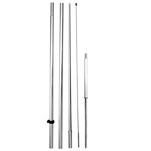 (4Less 15 Ft Windless Swooper Flag Pole Kit (Pole + Spike) Hybrid hq15)