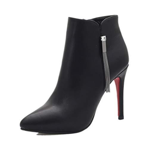 Chixiao Negro Zapatos Alto Invierno Altos E Botas De Tamaño Para 37 zCwSpqx