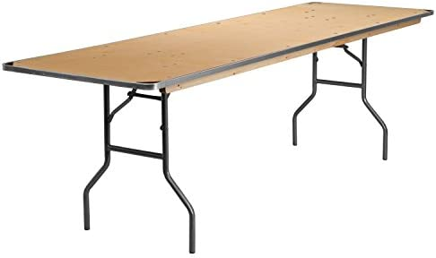 Flash Furniture 30x96 Wood Fold Table Met Edge 30 By 96 Inch Natural Furniture Decor