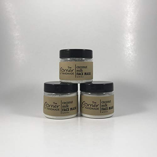 Coconut Milk Mud Mask, Kaolin Clay, Detoxifying, Purifying, Face Mask, with Oatmeal, Spa Treatment