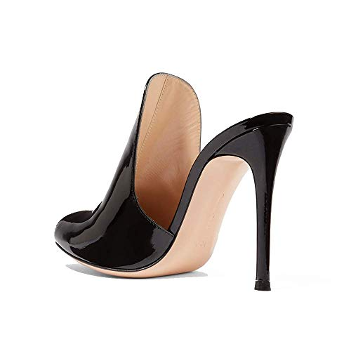 Bouche Pu Ouvert De Sandales Poisson Black Femmes Une Aux Robe Bout Pédale Des Chaussures Banquet Stylet Pfmy dg Mode Sauvage xwX4PqFfX0