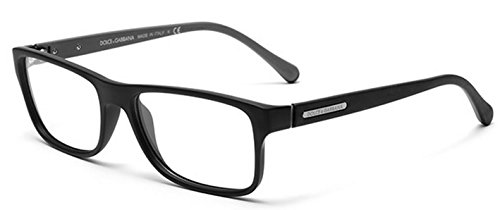 Dolce&Gabbana OVER-MOLDED RUBBER DG5009 Eyeglass Frames 2805-56 - Black Rubber - Eyeglass Rubber Frames
