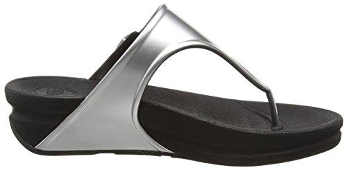 Superjelly Mirror Fitflop Sandalias silver Plateado Para Mujer 1YRpdqwR