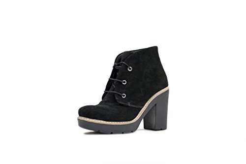 N & K London Chaussures Aella, Dames Bottes Noires