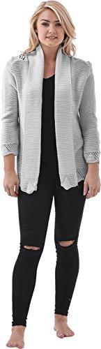 Boston Clothing - Cárdigan - para mujer gris claro