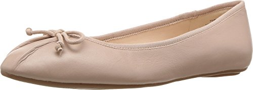 Beige Ballet Flats (Nine West Women's Batoka Leather Ballet Flat, Natural, 10 M US)