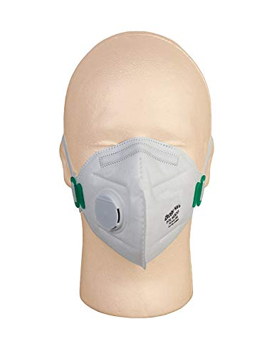 - Disposable Dust Masks NIOSH N95 Approved with Breathing Valve,SafetyPlus, Pack of 10