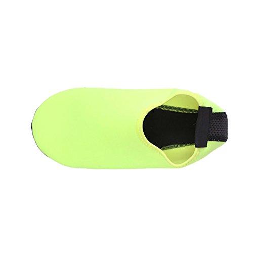 Norbi Barefoot Water Skin Shoes Aqua Socks For Beach Pool Sand Swim Surf Yoga Fluorescent Green mqM6N