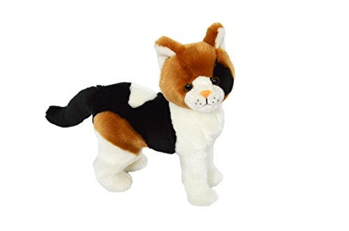 (Kingdom Kuddles Plush Calico Cat Pixel- Stuffed Animal)