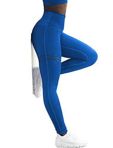 61692e3dfa SEASUM Women Striped Yoga Leggings High Waist Slimming Pants Waistband Workout  Sport Fitness Gym Tights Fit
