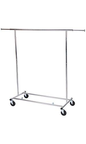 Chrome Single-Rail Collapsible Salesman Clothing Rack