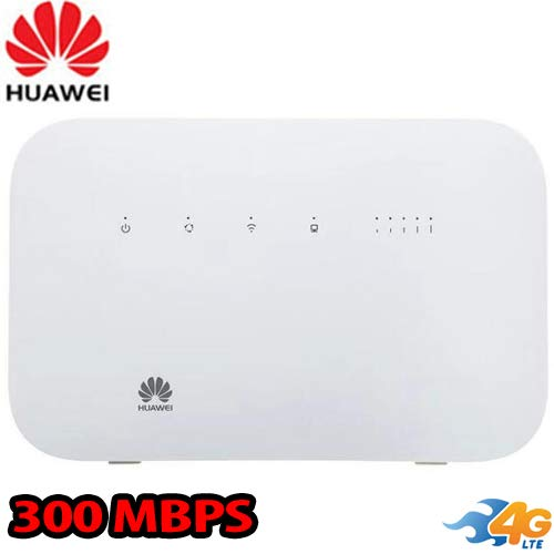 Huawei B612s-51d Home Router GSM Unlocked 4G LTE CPE 300 Mbps Mobile Wi-Fi + 4 RJ45 (4G LTE in USA Latin & Caribbean Bands) Up to 32 Users