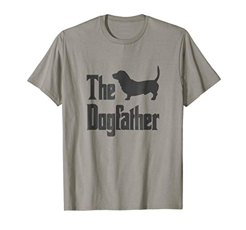 The Dogfather t-shirt, Basset Hound silhouette, funny dog
