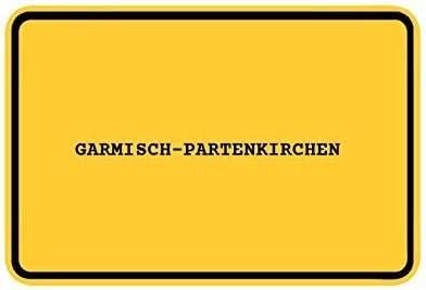 Ortsschild Garmisch-PARTENKIRCHEN JOllify Aufkleber Design Farbe