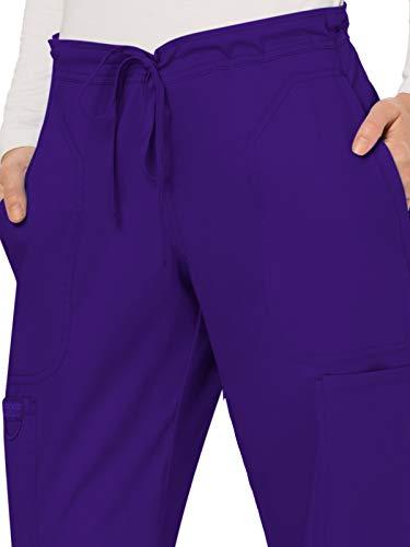 Cherokee Workwear Revolution Women's Mid Rise Moderate Flare Drawstring Scrub Pant