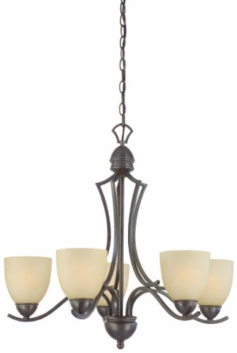 Thomas Lighting SL808222 Triton Collection 5 Light Chandelier, Sable Bronze
