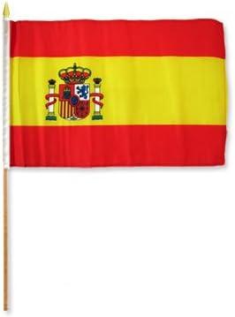 AZ FLAG Bandera de ESPAÑA 45x30cm con Palo de Madera - Lote de 10 ...