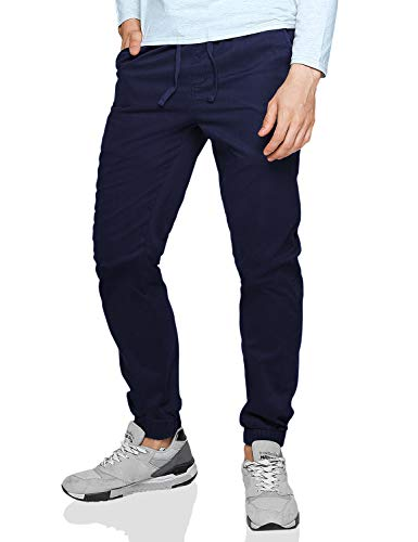 Match Men's Loose Fit Chino Washed Jogger Pant (34, 6535 Bluish Violet)