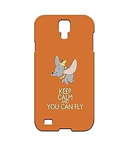Samsung Galaxy S4 I9500 Funda/Carcasa,Dumbo Disney Cartoon Movie Character Beautiful 3d Rugged Phone Cover Skin By CartoonOnily