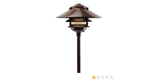 Lot of 6 Large LED Garden 3 Tier Pagoda Landscaping Light