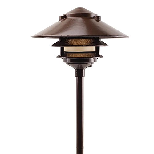 Cast Aluminum 3-Tier Large Top Pagoda Area Light - PAT-LT3R (Bronze) (Budget Cast Aluminum Outdoor Lighting)