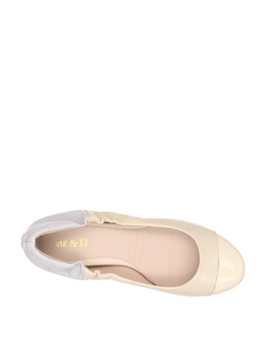 Be & D Mujeres Stevie Cap Toe Ballet De Cuero Genuino, 39 Eu / 9 Us