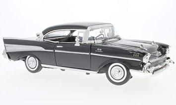 Chevrolet Bel Air Schwarz 1957 Modellauto Fertigmodell Motormax 1 18 Spielzeug