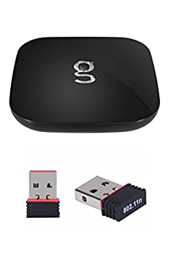 Newest Matricom G-Box Q2 Quad/Octo Core Android TV Box [2GB/16GB/4K] (Rev 1.2) With Hdmi Cable and Bonus Wifi Dongle Package (no add ons included) by Matricom