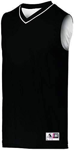 (Augusta Sportswear Men's Reversible Two-Color Jersey 2XL Black/White)