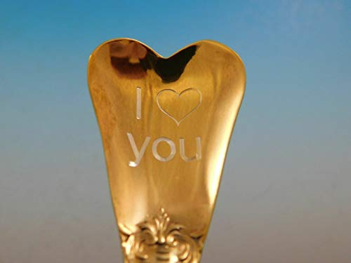 - Francis I by Reed & Barton Sterling Silver Heart Spoon Valentines Day Gift (I Love You)