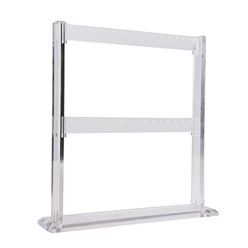 Funnuf Clear Acrylic 2 Tier Jewerly Display Stand Holder Earring Organizer