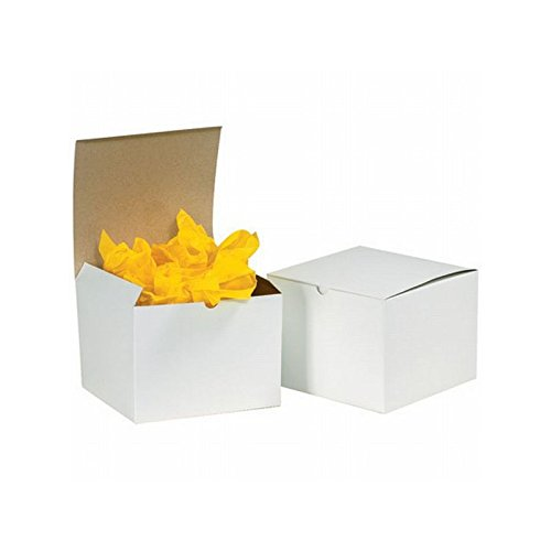 Box Packaging Gift Box, White, 9'' x 9'' x 5-1/2'' - Case of 50 by Box Packaging