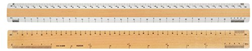 "18"" Architectural 2 Bevel Wood Ruler"