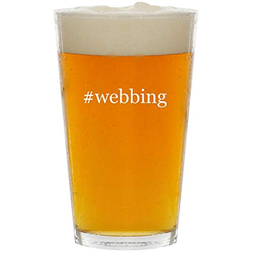 #webbing - Glass Hashtag 16oz Beer Pint