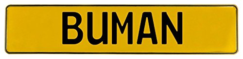 (Vintage Parts 607517 Yellow Stamped Aluminum Street Sign Mancave Wall Art)