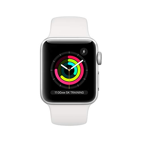 AppleWatch Series3 (GPS, 38mm) - Silver Aluminum Case with White Sport Band