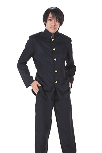 ICEMPs Japanese Anime Cosplay Black Male Formal School Uniform Outfit L
