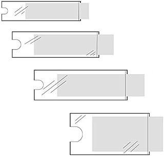 Klebeshop24 BESCHRIFTUNGSFENSTER SELBSTKLEBEND | Format + Menge wählbar | Transparent | Schmale Seite offen | Selbstklebetaschen für Einsteckschilder | Mit Daumenausstanzung ~ 62 x 150 mm 120 Stück
