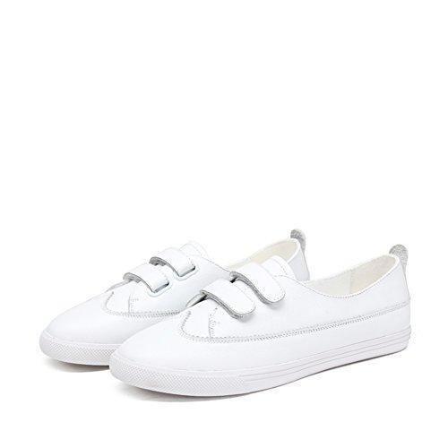 Zapatillas de damas/Zapatos Velcro fondo plano/Zapatos del ocio Coreano A