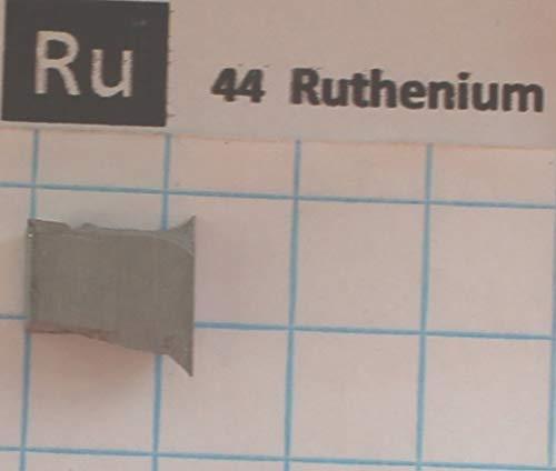 Ruthenium Dark Metal - 3.16 Gram Sintered 99.99% Ruthenium Metal Nugget - Pure Element 44 Sample