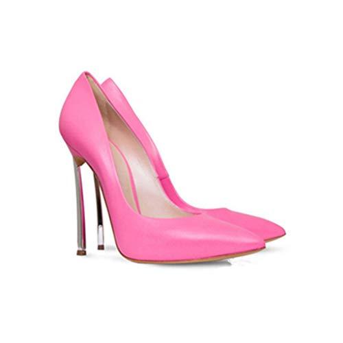 Robe Escarpins De Soirée Soirée Talon En Femmes Métal Forme Chaussures Plate Banquet Fermé De Stiletto Pointé Chaussures Bout Étanche Pink RwxnfqSC