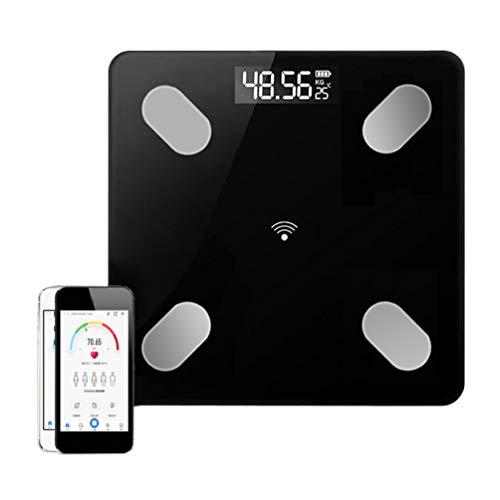 Bathroom Scale Body Fat, APP Tempered Glass