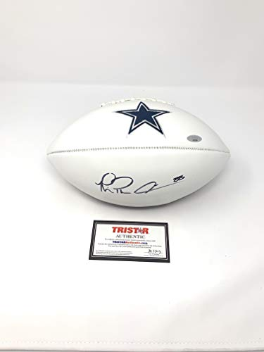 Michael Irvin Dallas Cowboys Signed Autograph Embroidered Logo Football Tristar Certified