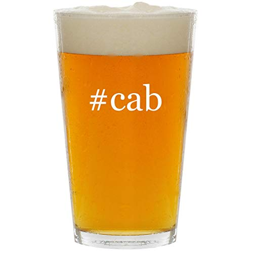 - #cab - Glass Hashtag 16oz Beer Pint