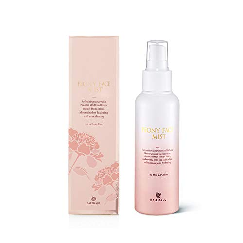 - Baegayul Korean Hydrating Fine Face Mist spray for Cooling Refreshing with Peony Flower Natural Ingredients K-beauty Cosmetics BAEGAYUL PEONY FACT MIST 4.05 fl.oz.